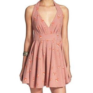 Free People Boho Chic Mini Halter Floral Dress